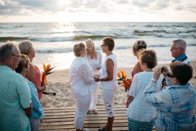 rainbow weddings on the beach