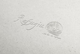 Logo Refugiu aplicat pe diverse materiale