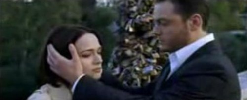"Tiziano Ferro - a still from the video from ""Ti scatterò una foto"" on Ponte Milvio bridge in Rome"