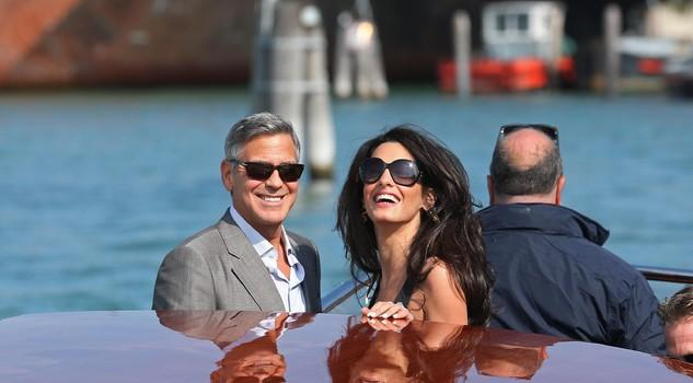 George & Amal on the Grand Canal, Venice
