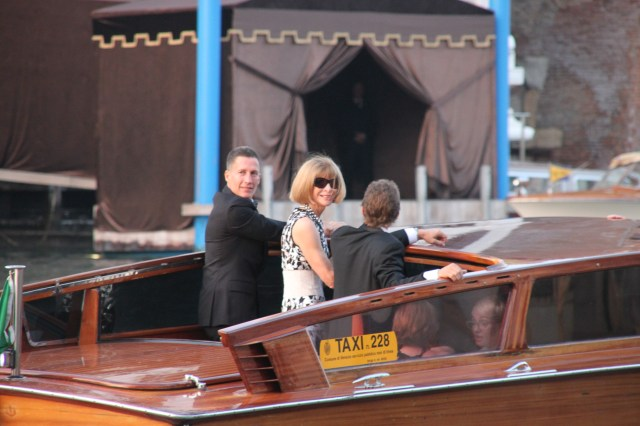 Anna Wintour in her trademark sunglasses