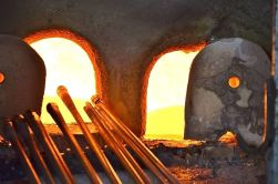 The Murano glass furnaces are kept at a constant 1200 degrees centigrade! Don't touch!