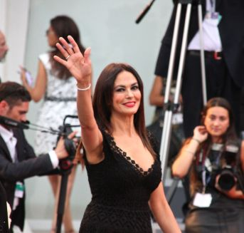 La Cucinotta on the red carpet at the Venice Film Festival