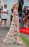 Laura Bailey rocks a floaty, floral frock at the Venice Film Festival premiere of Everest
