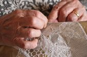 Traditional lace making in Burano, Venice