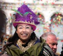Flight of the Eagle at Venice Carnival