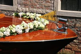 Getting married in Venice requires a different kind of transport!