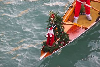 Decorated boats