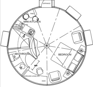 DreamDome 6.0m diameter floor plan