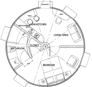 DreamDome 6.5m diameter floor plan