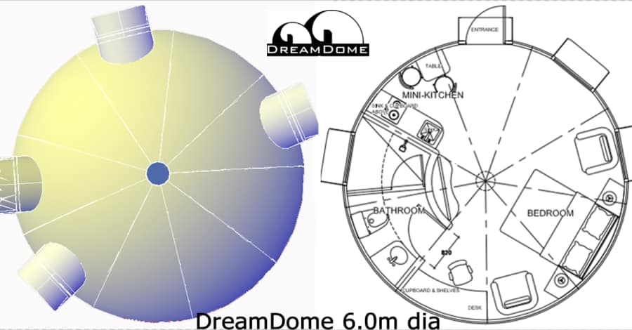 The DreamDome 6.0m diameter prefabricated dome