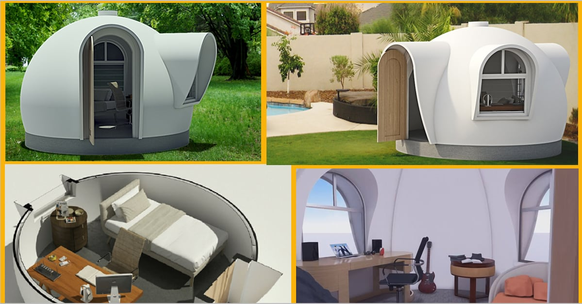 Prefabricated domes archive dreamdome modular housing for Backyard office kit