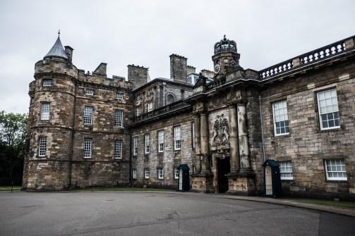 Stará časť paláca s komnatami Márie Stuartovej