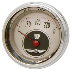 "Classic Instruments All American Nickel - 2-1/8"" Temp Gauge"