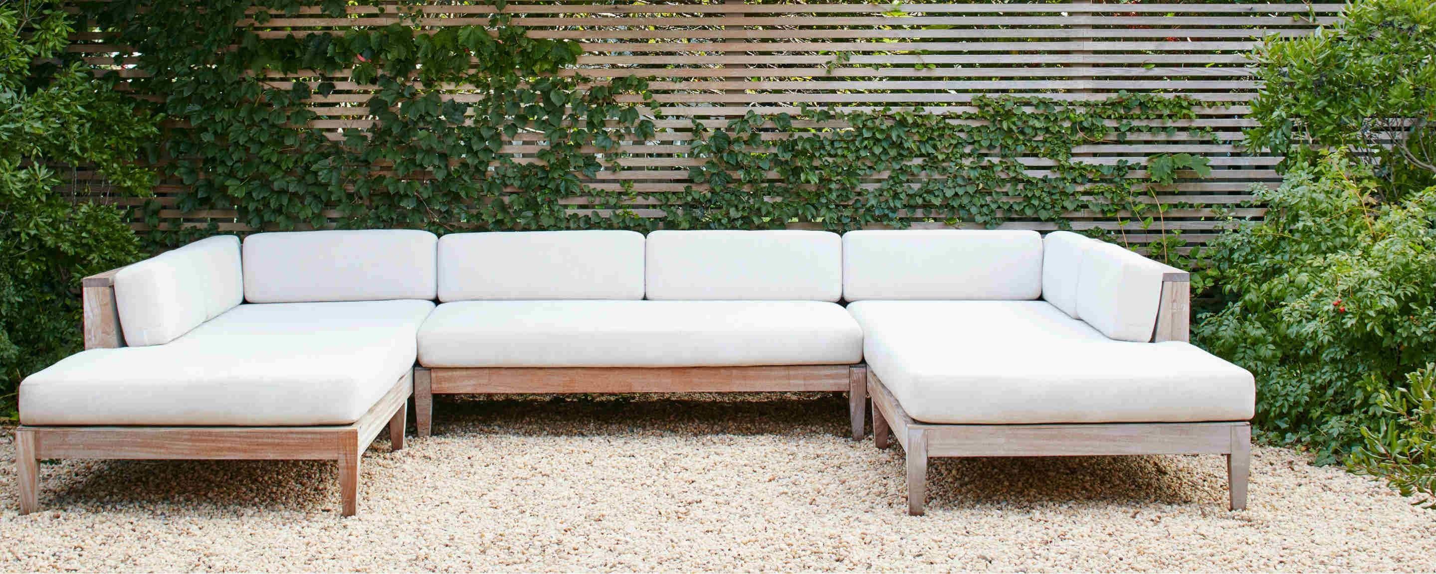 sapele wood outdoor sectional sofa
