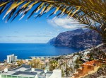 Cityscape view of Los Gigantes cliffs. Tenerife, Canary Islands, Spain