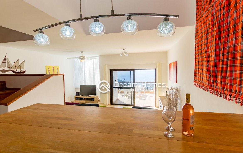 Casablanca Two Bedroom Apartment, Los Gigantes Dining Area Real Estate Dream Homes Tenerife