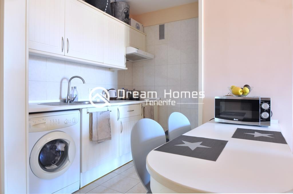 Modern One Bedroom Apartment with Pool Kitchen Real Estate Dream Homes Tenerife