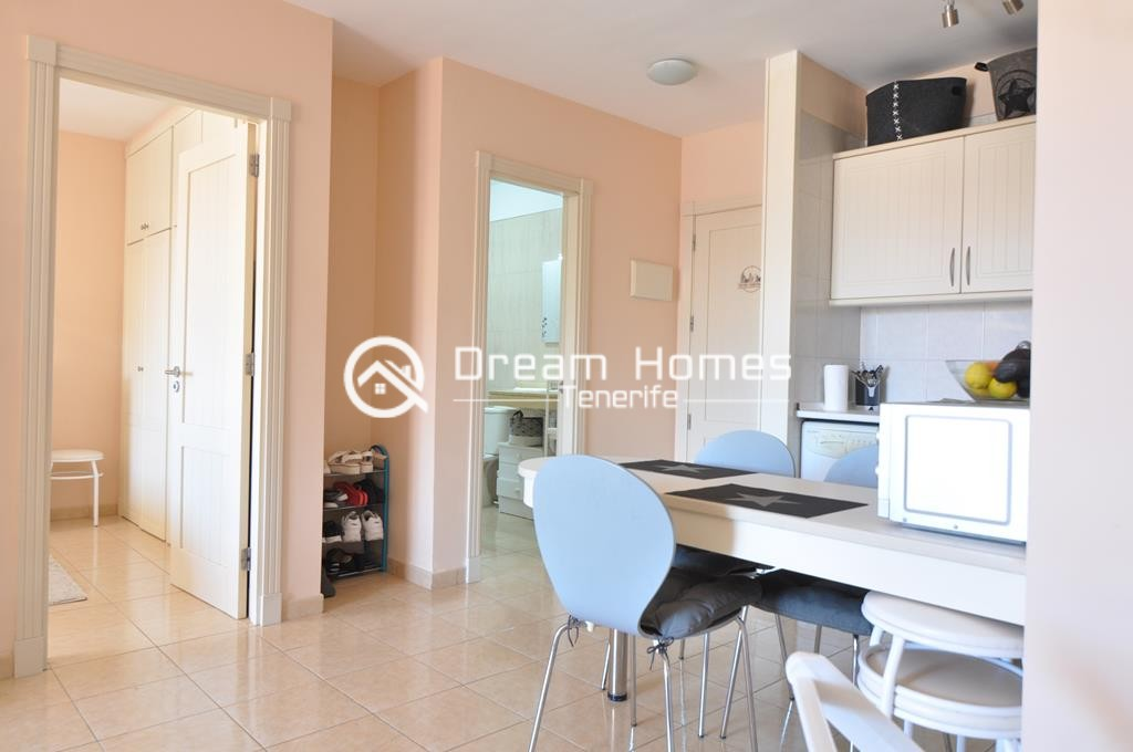 Modern One Bedroom Apartment with Pool Dining Area Real Estate Dream Homes Tenerife