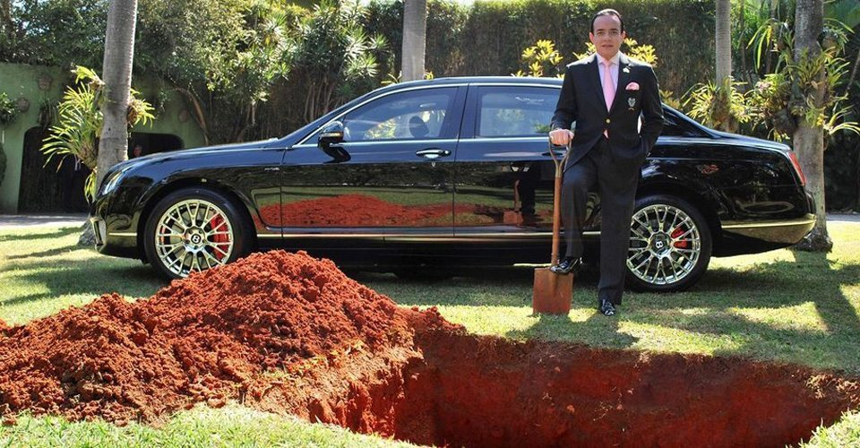 This Brazilian Businessman Buried his $500,000 Bentley For the Most Epic Reason