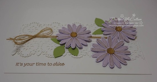 Daisy Lane Card in Purple Posy