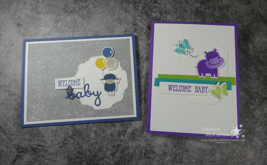Hippo Happiness Baby Cards