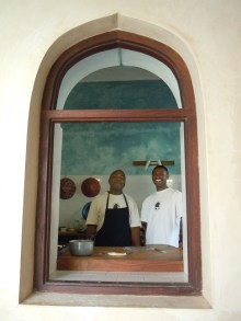 Chef Michael (left) with Kenneth
