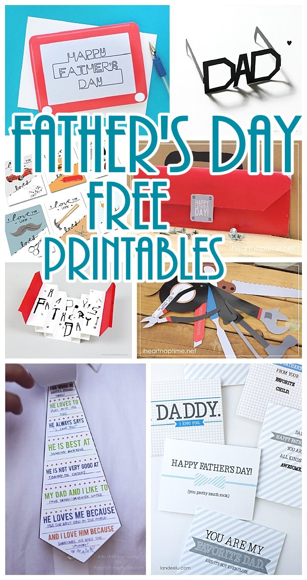Father's Day Cards and FREE Printables - Lots of Cute Paper Crafts Dad will LOVE!
