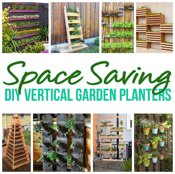 Diy Flower Gardening Ideas And Planter Projects: {The BEST} DIY Vertical Gardens For Small Spaces