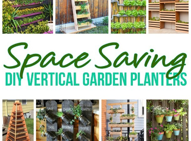 DIY Projects -Space Saving DIY Vertical Garden Planters Tutorials - DIY Proejcts
