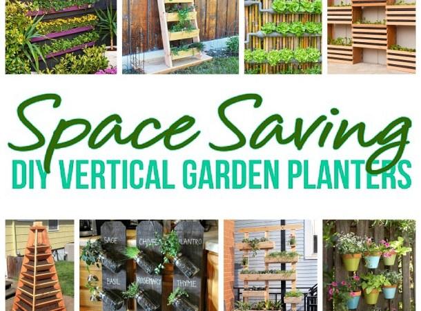 DIY Projects -Space Saving DIY Vertical Garden Planters Tutorials - DIY Proejcts