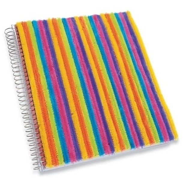 DIY Back to School Projects for Teens and Tweens Glue some Pipecleaners to your spiral and subject notebook to make it FUN and FUZZY and one of a kind