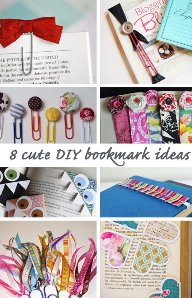 DIY Back to School Projects for Teens and Tweens Handmade DIY Bookmark Ideas and Tutorials via Good Life Eats