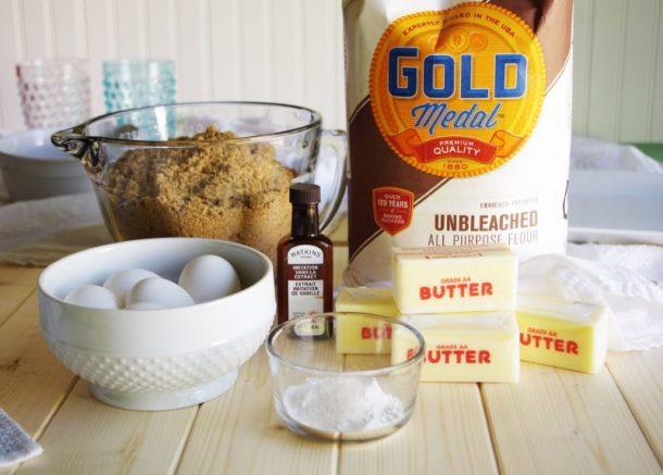 Prison Blondies Blonde Brownies Dessert Recipe - Ingredients