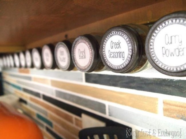 The BEST Tips to Organize Kitchen Affix-spice-jars-under-your-cabinets-for-easy-access-via Reality Daydream