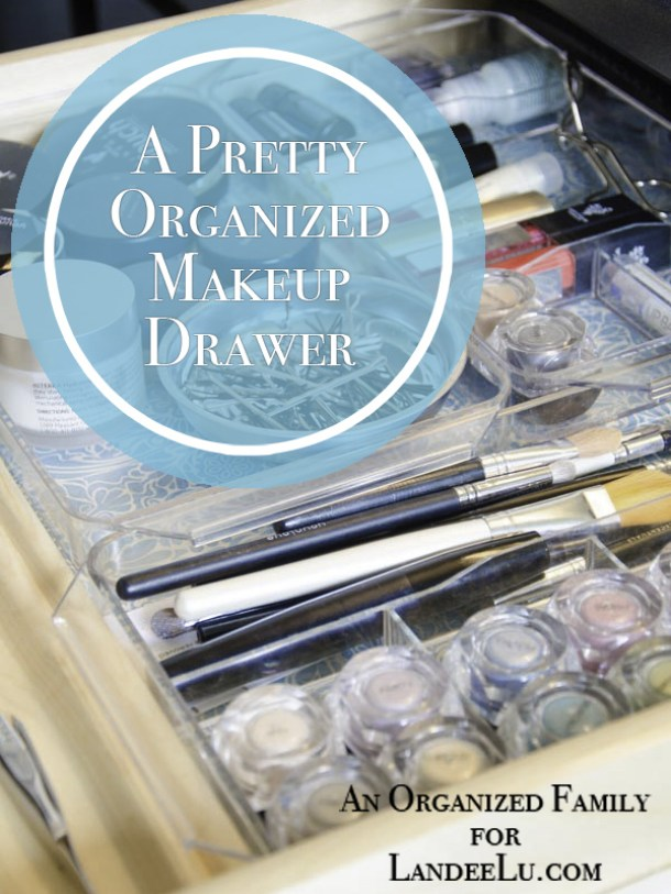 DIY Bathroom Organization Ideas - How to Organize your Makeup Drawer and make it pretty - tutorial via Landeelu