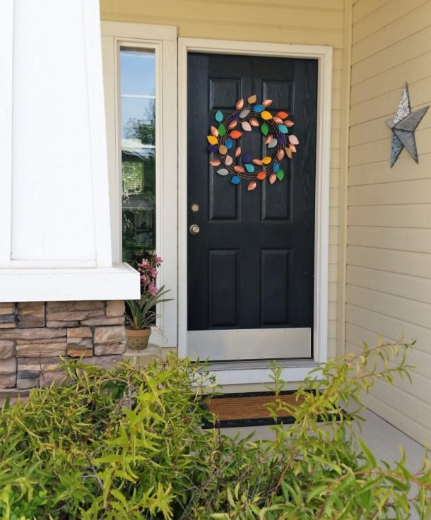 DIY Faux Copper and Felt Fall Wreath Decoration Tutorial - Perfect and Welcoming on your Front Door