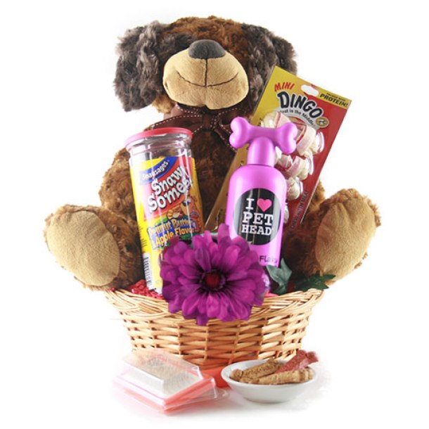 Darling New Pet Owner/Parent Gift Basket Ideas - Do it Yourself Gift Baskets Ideas for All Occasions - Perfect for Christmas, Thank You, Birthdays or anytime!