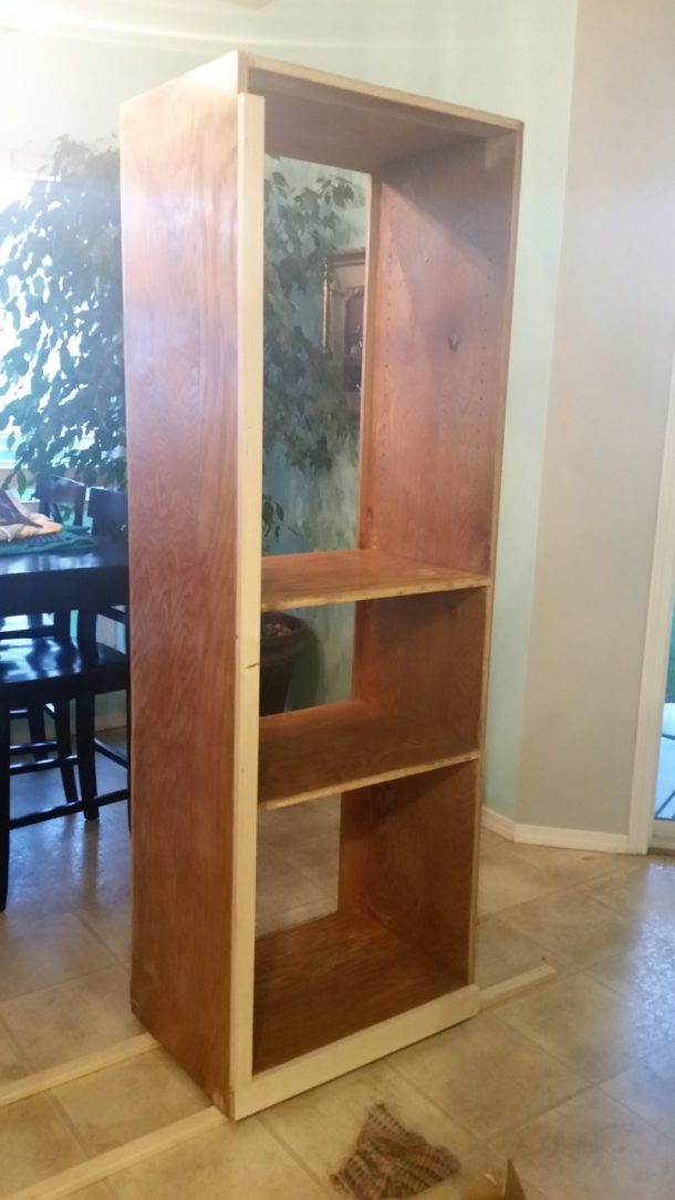 Diy craft room wall storage organizer unit furniture for Room furniture organizer