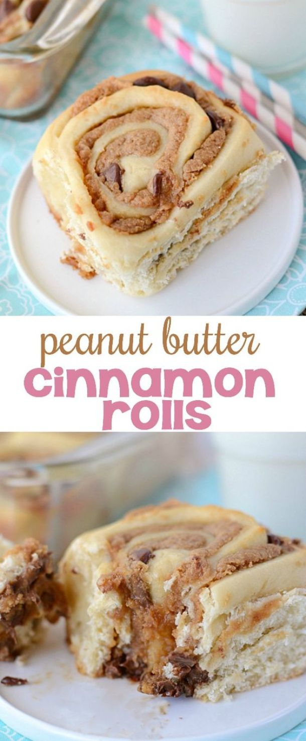 Peanut Butter Cinnamon Rolls Recipe | Crazy for Crust - The BEST Cinnamon Rolls Recipes - Perfect Treats for Breakfast, Brunch, Desserts, Christmas Morning, Special Occasions and Holidays
