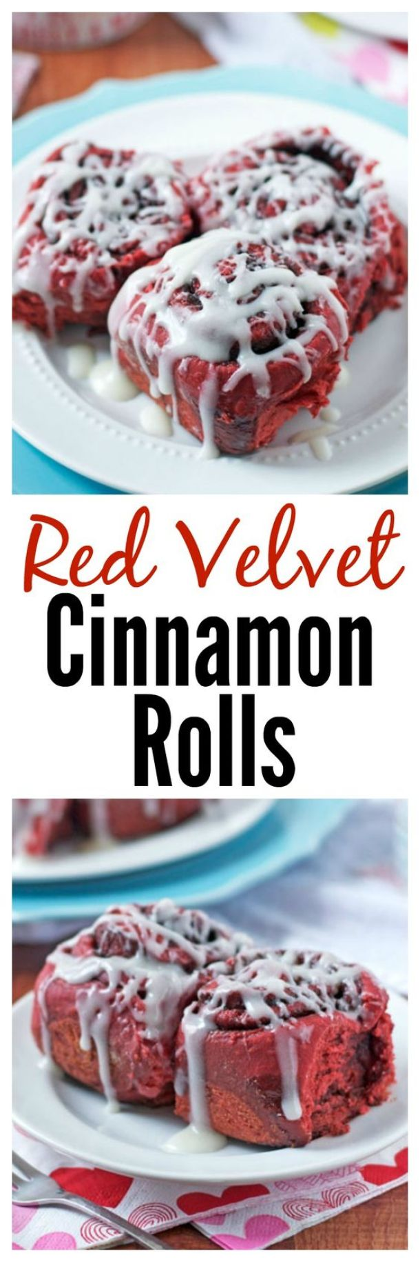 Red Velvet Cinnamon Rolls Recipe - Perfect for Valentine's Day or Christmas Morning! | Well Plated by Erin
