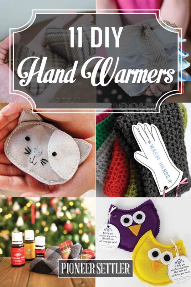11 DIY Hand Warmers to Make Yourself - what fun and useful gifts for winter and Christmas time! | Pioneer Settler - The BEST Do it Yourself Gifts - Fun, Clever and Unique DIY Craft Projects and Ideas for Christmas, Birthdays, Thank You or Any Occasion