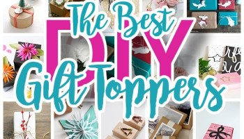 The Best Diy Gift Toppers Pretty And Easy Handmade Gift Wrapping Ideas For Christmas