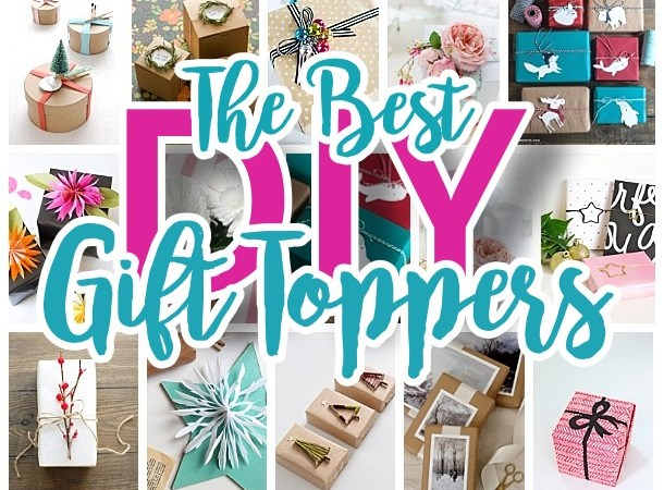 The BEST DIY Gift Toppers - pretty handmade EASY gift wrapping ideas for Christmas Birthdays Holidays and more! - Dreaming in DIY