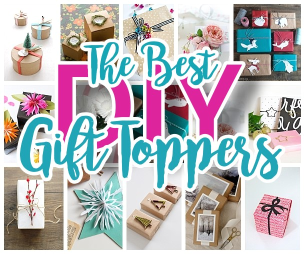 The BEST DIY Gift Toppers - pretty handmade EASY gift wrapping ideas for Christmas Birthdays Holidays and more!