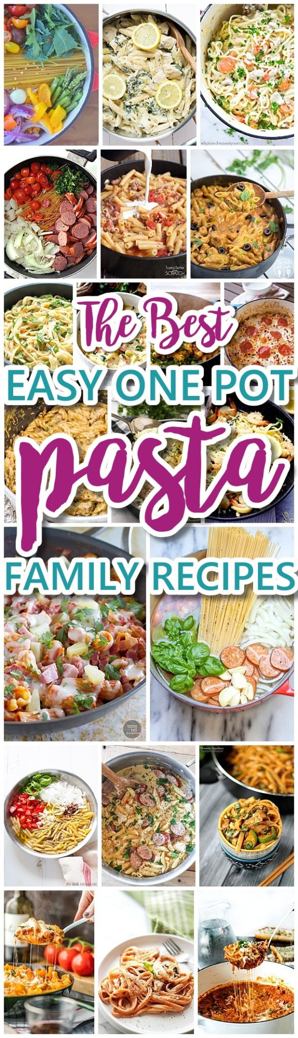 The Best Easy One Pot Pasta Family Dinner Recipes - Grab a Simple Quick and Delicious Hearty Recipe for dinner this week - via Dreaming in DIY