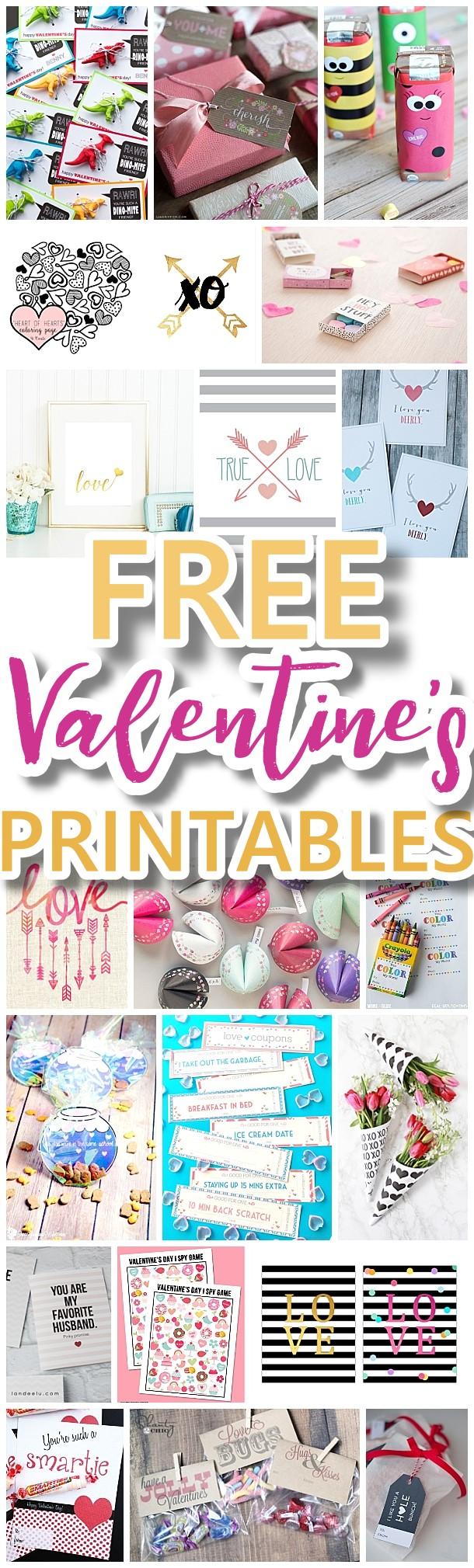The BEST Valentine's Day FREE Printables - Kids Classmate ... Free Printable Valentine's Day Decorations