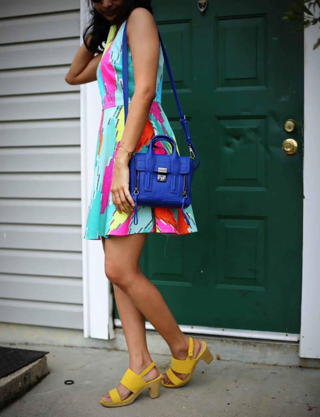 cece-daimond-print-flare-dress
