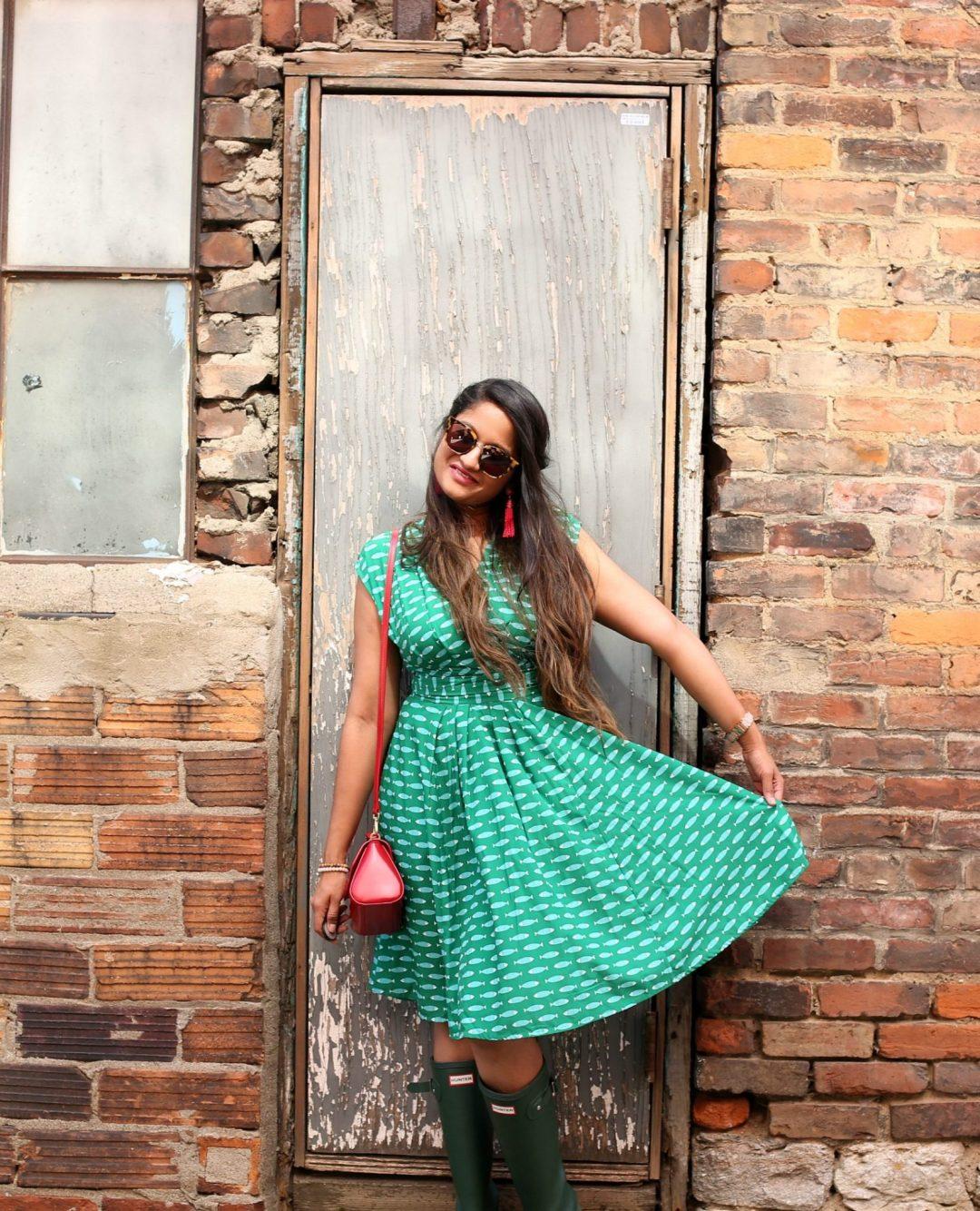 eshakti-fish-print-crepe-dress-1