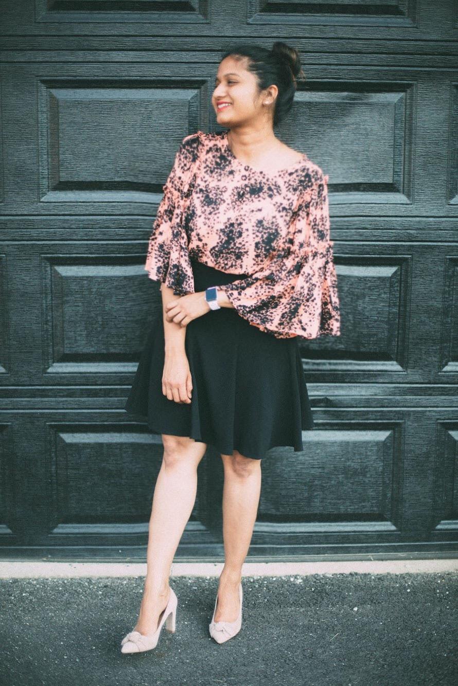 Cece-Crepe-A-line-Skirt